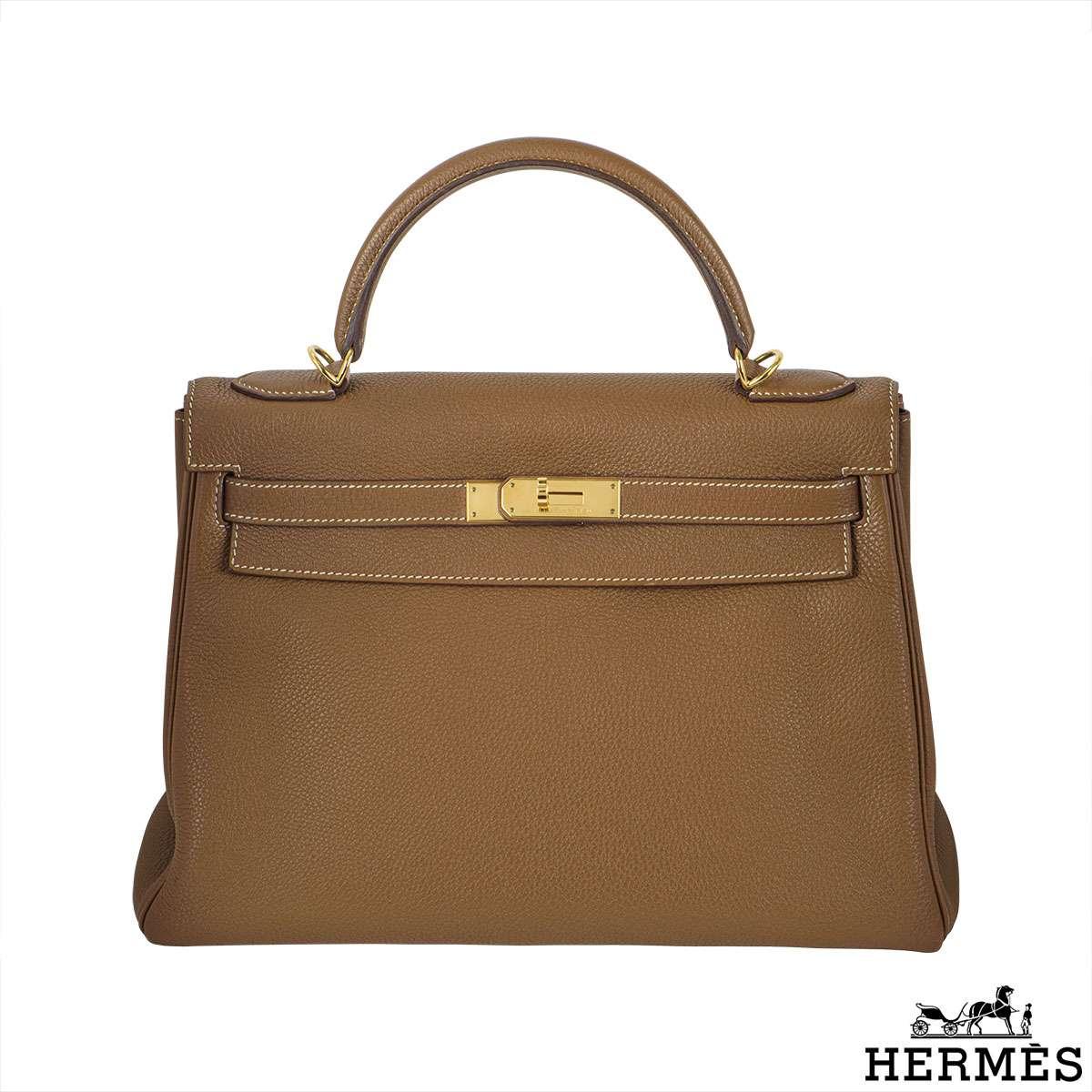 Hermes Kelly 32 cm Togo leather GHW handbag